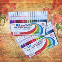 18 stylo de couleur Art marqueur dessin aquarelle stylo enfants bricolage Scrapbooking marqueur stylo école papeterie fournitures