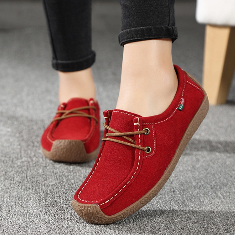Women Shoes 2017 Fashion Wild Lace-up Flats Women Casual Shoes Breathable Female Footwear Ladies Loafers Shoe YDT90