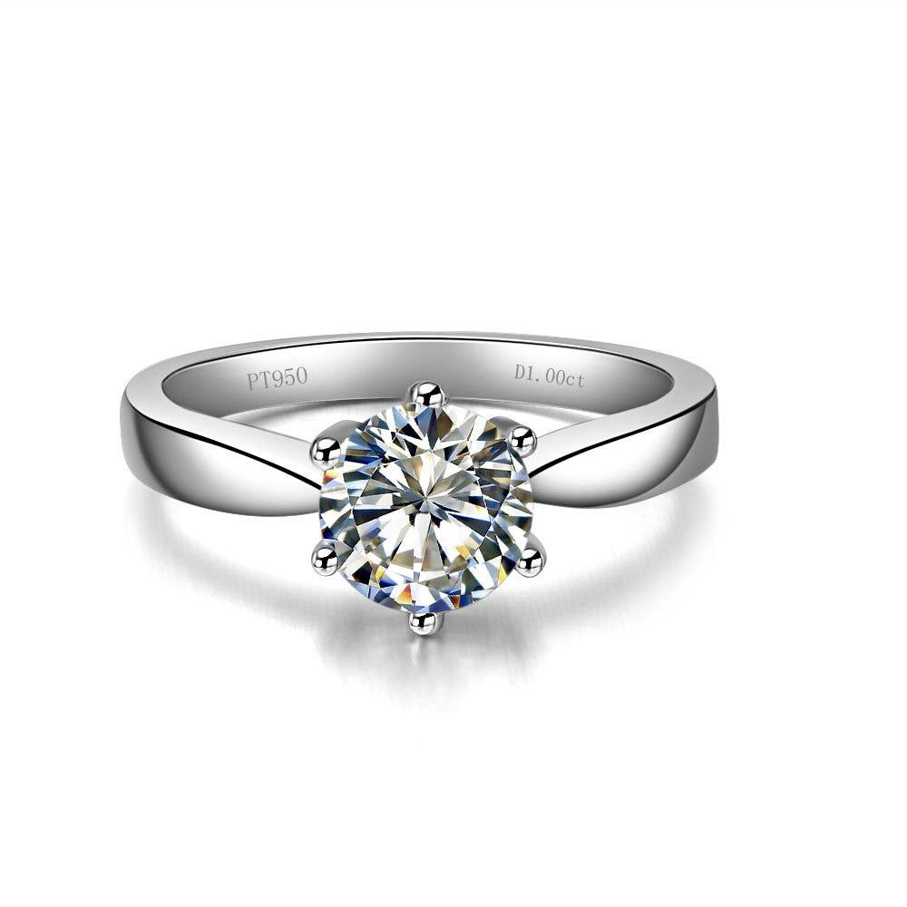1 carat diamond solitaire rings price wedding ring prices 1 Carat Solid Gold Top Brand Solitaire Authentic Synthetic Diamonds Anniversary Ring Fine Wedding Jewelry
