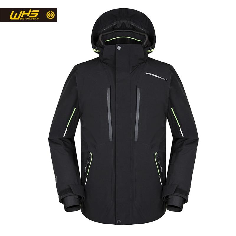 WHS 2018 Nouveaux hommes Vestes De Ski D'extérieur coupe-vent chaud Manteau de neige pour hommes veste mâle Chaud Veste Homme intelligent chauffée ski veste