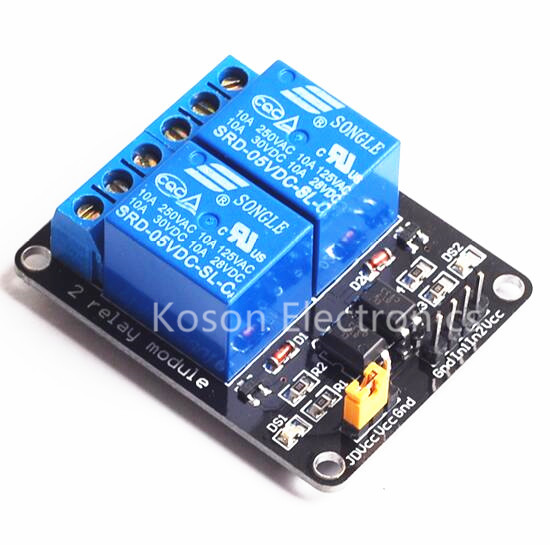 NEW 5V 2-Channel Relay Module Shield For Arduino ARM PIC AVR DSP Electronic With Optocoupler low level triggered