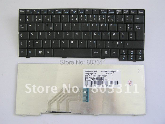 Free shipping: FR keyboard for Acer Aspire One A110 A110X 110L A150X ZG5 series
