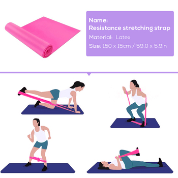 Yoga Training Equipment Including 5 PCS/Set Resistance Loop Band, 8