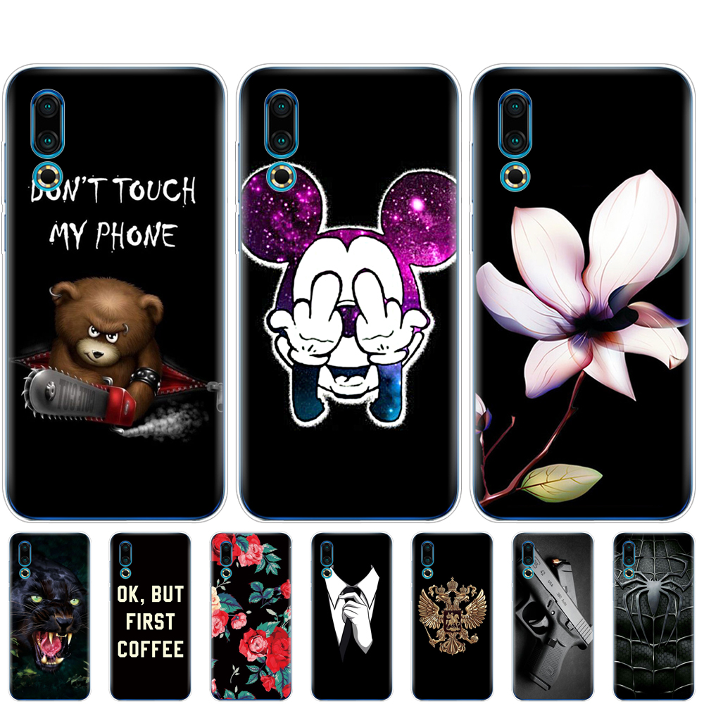 For <font><b>Meizu</b></font> 16S Case 6.2'' Painted Soft TPU Silicone Back Cover For <font><b>Meizu</b></font> 16s <font><b>16</b></font> S Phone Case Slim For Meizu16S Coque bumper clear image