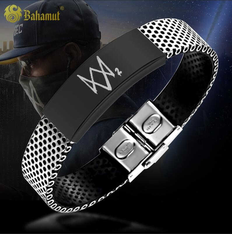 Watch Dog Game Watch Dogs 2 Metrosexual Titanium Steel Bracelet Aiden Pearce Free Customize Lettering kids dress autumn girls princess dresses korean teenage baby girls dress cotton long sleeve bow children costume 6 8 10 12 years
