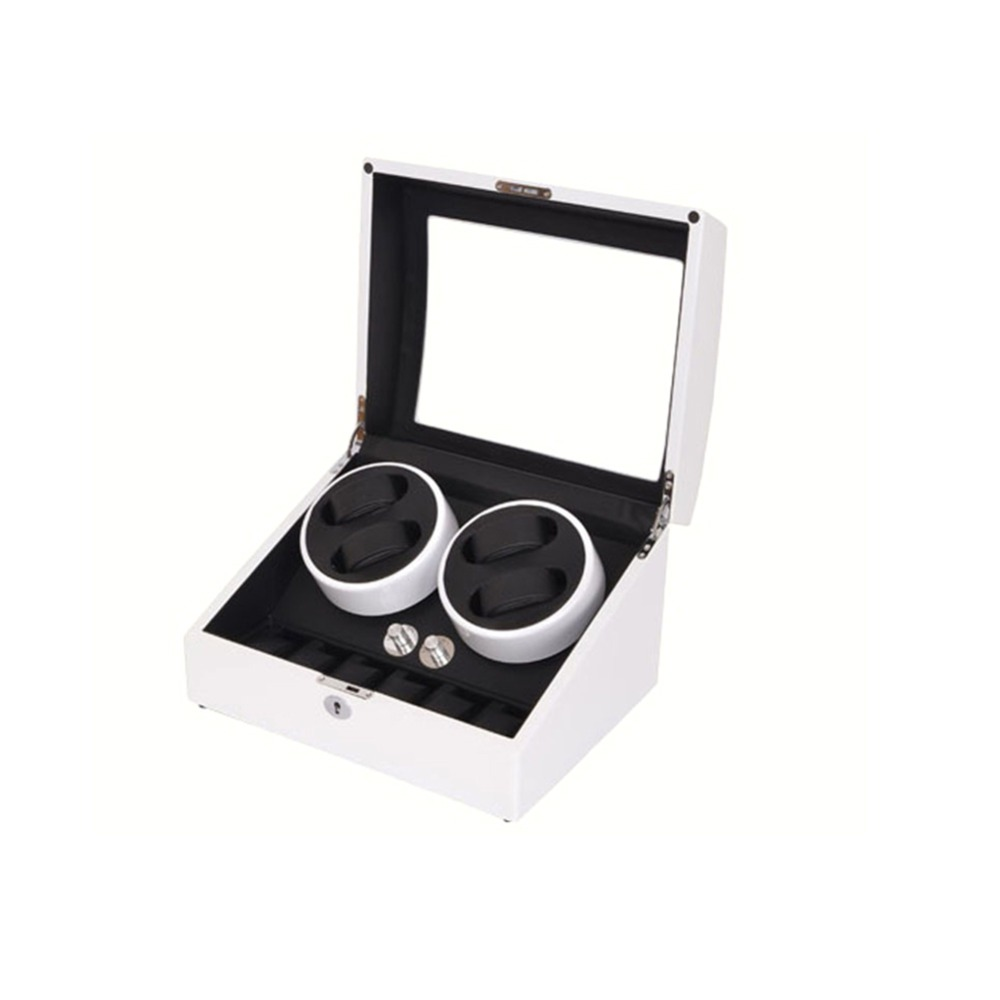 Watch Winder, LT Wooden Automatic Rotation 4 + 6 Watch Winder Storage - Tilbehør til ure - Foto 4