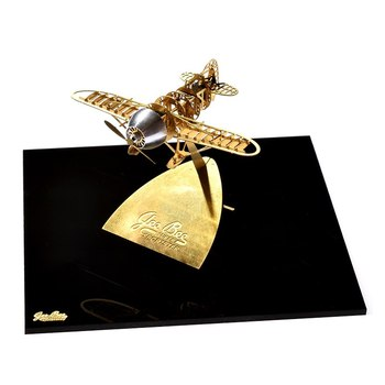 Rompecabezas 3D 1/160 escala GeeBee Racer R-2 DIY Metal montaje modelo Upmarket profesional grabado latón divertido regalo exquisitos Juguetes
