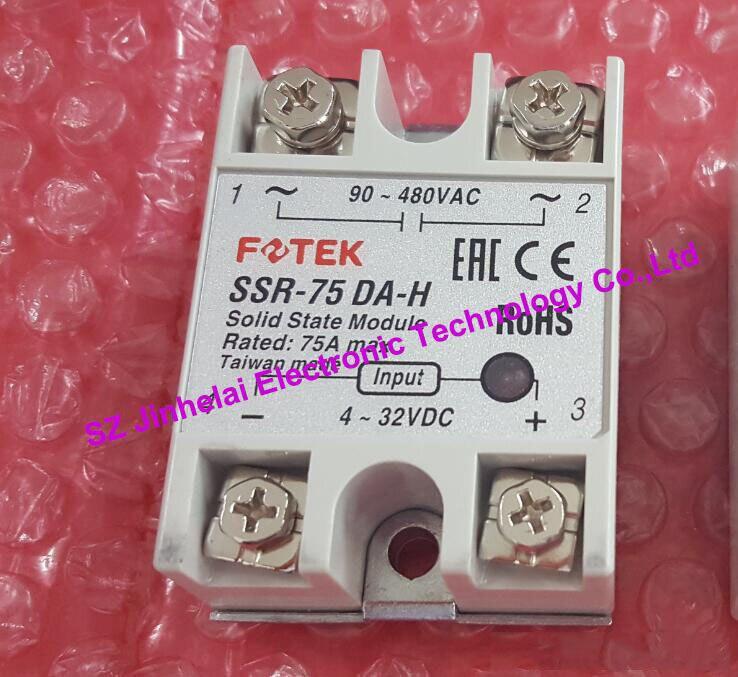 SSR-75DA-H  New and original FOTEK  High voltage SOLID STATE RELAY  75A 100% new and original fotek photoelectric switch a3g 4mx mr 1 free power photo sensor
