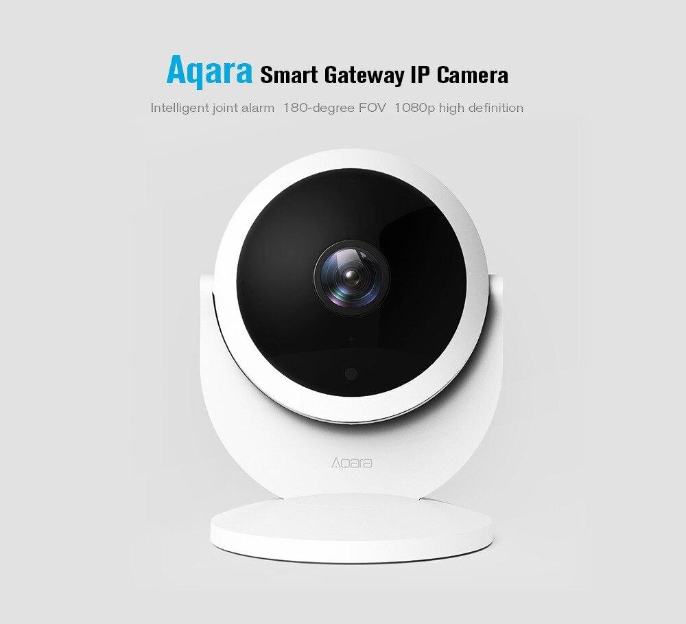 Xiao mi mi jia Aqara caméra IP intelligente avec fonction de moyeu de passerelle 1080 P HD alarme de liaison 180 degrés FOV mi Interphone vocal intelligent à domicile - 4