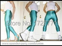 (LS61)Shiny Lycra Spandex Opaque Tights Unisex original Fetish Zentai Leggings Pants