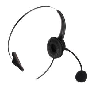 Image 3 - Leory rj11コールセンターヘッドフォン電話ノイズキャンセヘッドフォン付きマイクコネクタヘッドセット最高の価格