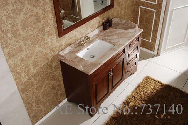 Salle de bain avec meuble en bois open source staffing - Quel couleur pour une salle de bain ...