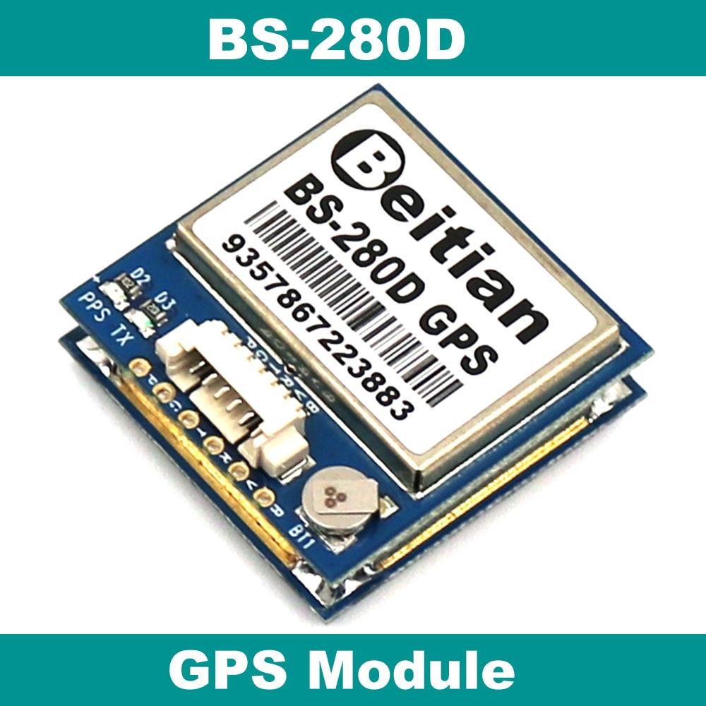 GPS-модуль с антенной, GPS-чипсет, VCC 5V, TTL-уровень с 4M вспышкой, 9600bps,BS-280D