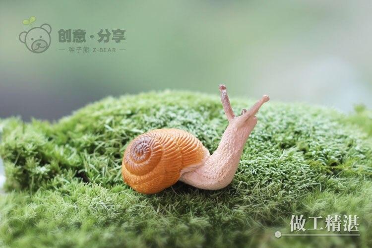 Groothandel Tuin Accessoires : Groothandel mini slak hars ambachten fairy tuin miniaturen voor