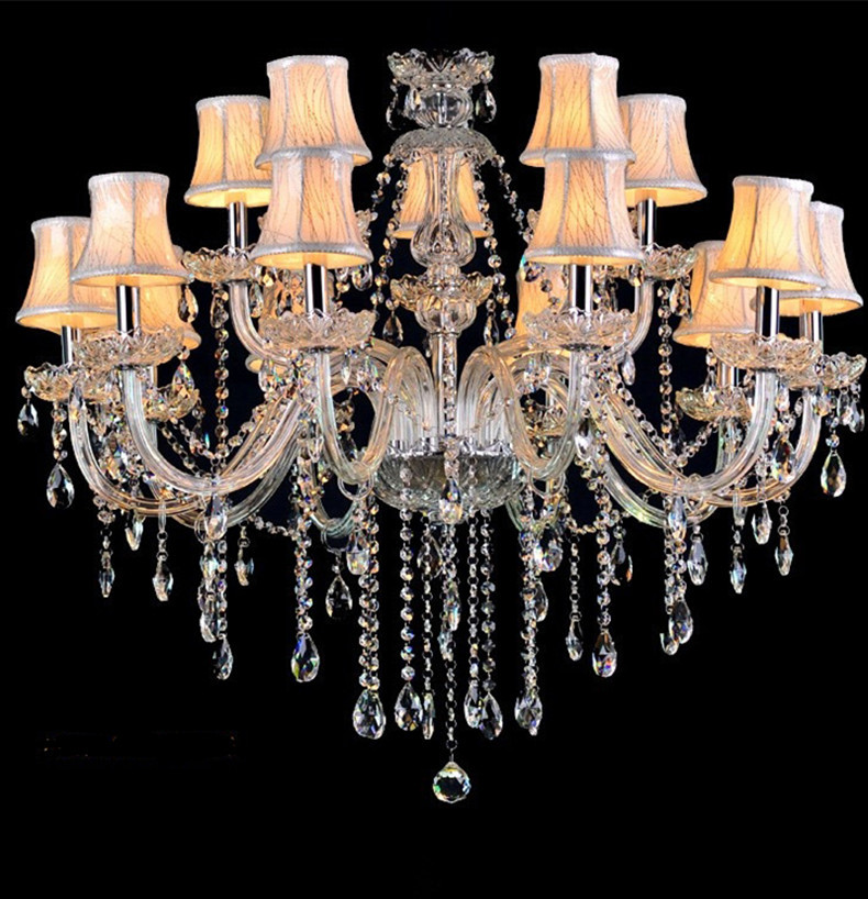 Led Lamps Crystal Chandelier Vintage Candle Chandeliers With Fabric Shades Villa Hotel Foyer Cande Holder Hanging Lights In From