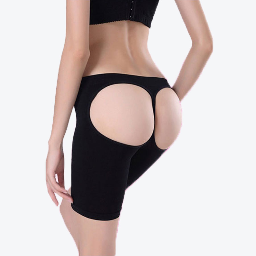 Quality Women Black Butt Lifter Open Bottom Tummy Control Hot Stovepipe Buttock Enhancer Slimming Leg Trimming Women's Intimates Underwear & Sleepwears
