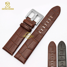 Leather bracelet watch band 22mm genuine leather watchband  wristwatches band  Black Soft and comfortable strap for GMT 36065