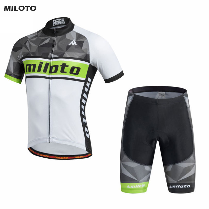 MILOTO Cycling Clothing Mens Bike Wear Ropa Ciclismo Short Sleeve Bicycle Jersey Set Men Sports Suit S-4XL xintown team mens cycling long sleeve jersey bib pants suit red clothing set ropa ciclismo mtb bike bicycle s 4xl