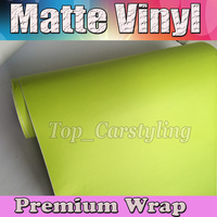 fluorescent yellow satin Car Wrapping With Air Release / Air bubble free Matte Car Wrap Styling Covers Size:1.52x30m/roll
