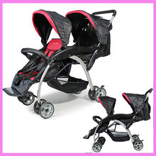 Newborn Lightweight Baby Twin Stroller Double Pram Folding Shock Absorber Cart Double 2 In 1 Stroller Twins Baby Kids Buggy