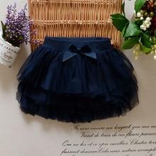 Girls Tutu Skirts Baby Ballerina Skirt Children Chiffon Fluffy Casual Skirt Cute Bow Princess Girl Party