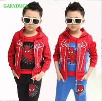 Spiderman Baby Boys Clothing Sets Cotton Sport Suit For Boys Clothes Autumn Spider Man Cosplay Costumes