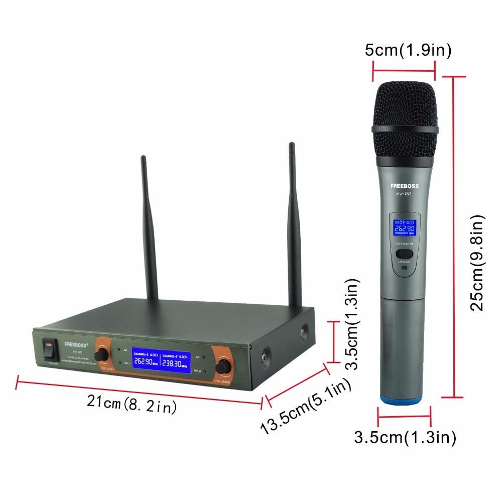 KV-22 VHF 2 Micrófono Inalámbrico de Mano Micrófono de Karaoke - Audio y video portátil - foto 5