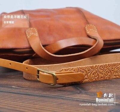 オリジナル本革レトロレディースハンドバッグショルダーバッグ牛革ショッピングバッグ高品質レディーストートメッセンジャーバッグランドセル財布  グループ上の スーツケース & バッグ からの ショッピングバッグ の中 3