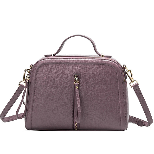 Classic Temperament Fashion Soft Genuine Leather women handbags Simple Chic women bag Small Square Crossbody Bag
