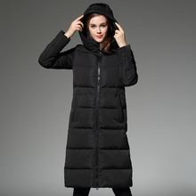 2016 inverno espessamento médio-longo para baixo casaco de veludo outerwear tampa removível térmica over-the-knee