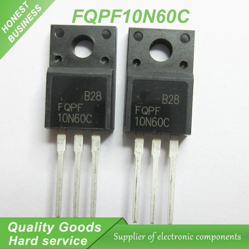10PCS FQPF8N60C 8A 600V N-Channel Field effect transistor TO-220F NEW