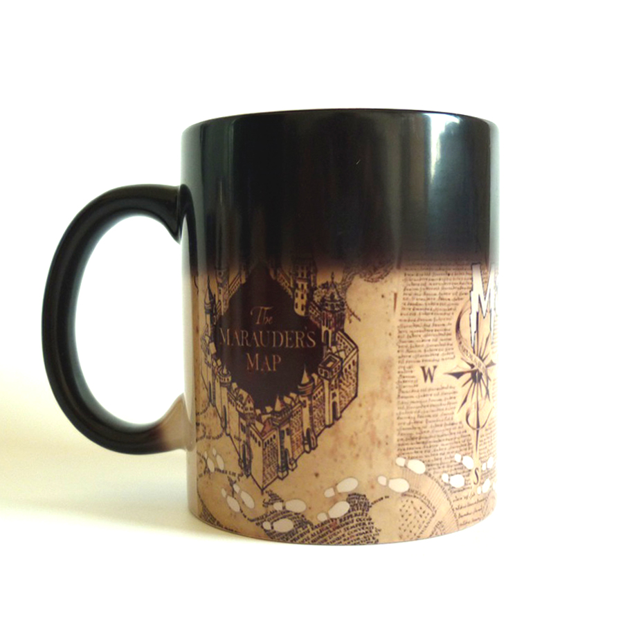 Drop shipping! HP magic mugs Marauders Map mischief managed mug Color-Changing  Coffee Tea Mug Cup for the friends gift harry potter mug marauders map