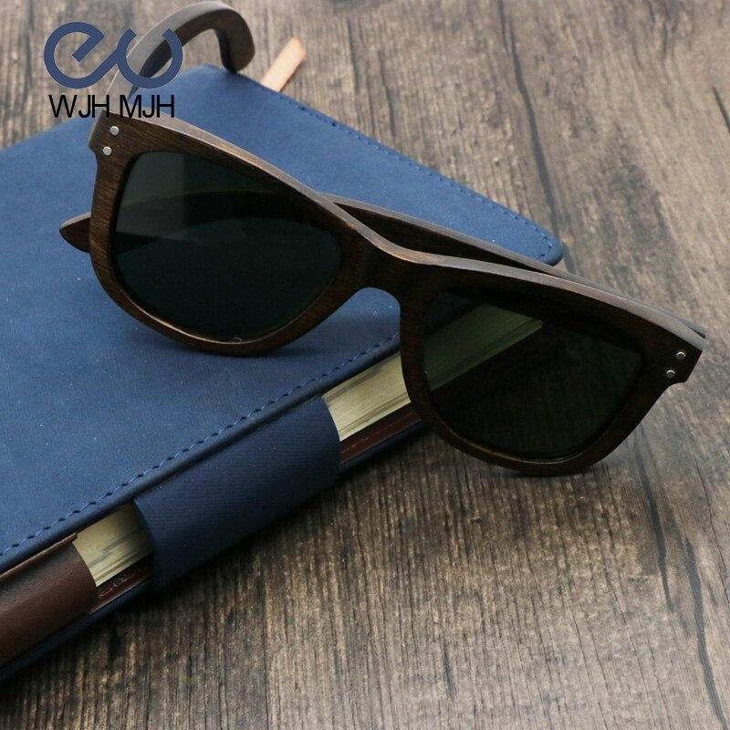 Nueva llegada de bambú marrón marco gafas de sol mujeres marca ...