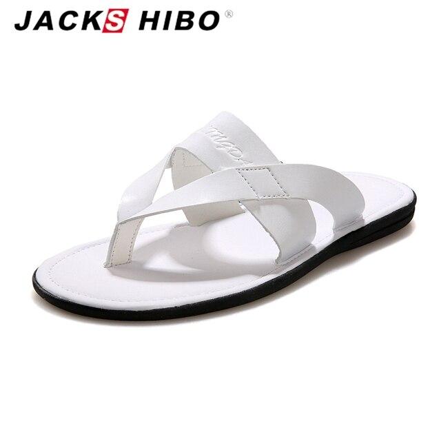 ff9a20b3bdfe JACKSHIBO 2016 luxury brand Summer Men slipper