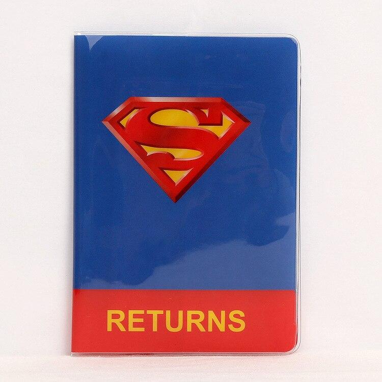 Горячая зарубежных дорожные аксессуары Обложка для паспорта, багажные аксессуары паспорт карты-Супермен
