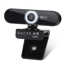 Autofocus webcam 1080P GUCEE noise reduction microphone Skype for Windows USB plug playback 10/8/7 Mac OS X wide-angle autofocus