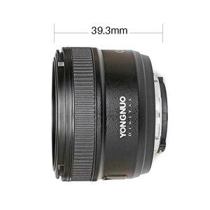 Image 4 - YONGNUO YN50MM F1.8 카메라 렌즈 Nikon D800 D5100 D5200 D5300 용 대형 조리개 AF MF DSLR 카메라 렌즈 Sony ZV 1 RX100 VII 용