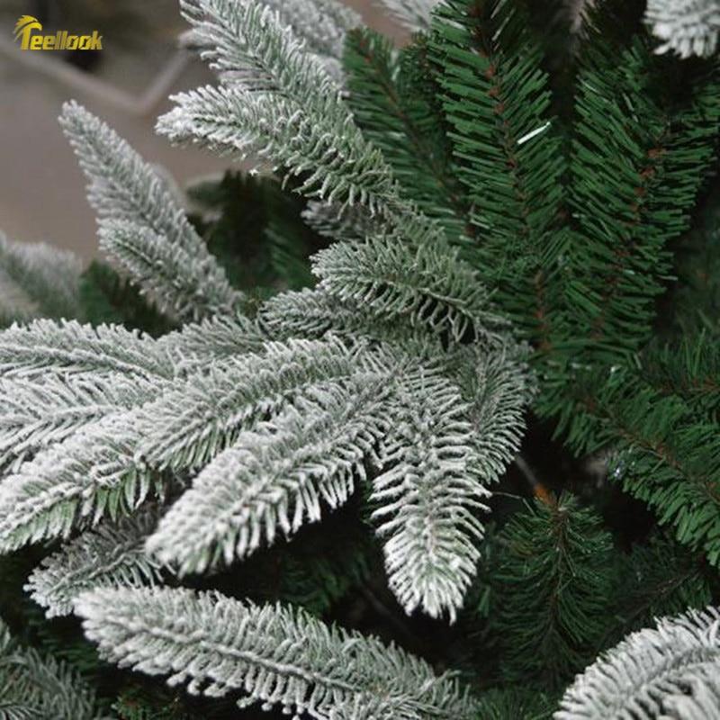 Teellook Снежинка Рождественская елка PE + ПВХ смешанный лист Рождественский отель семейный торговый центр украшение Флокирование дерево - 3