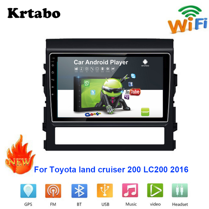 Car radio Android multimedia player For Toyota land cruiser 200 LC200 2016 Car touch screen GPS Navigation Stereo Audio