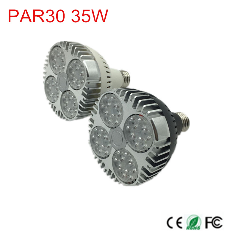 led PAR30 lamp 35w track light Flood Light Bulb PAR30 E26/E27 Cree LED Chips spot lamp for kitchen clothes shop