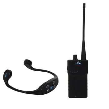 Wireless Transmitting Swimming Teaching Device w/1 Walkie Talkie+1 Bone Conduction Waterproof 8GB Mp3 Player Headphone Receiver