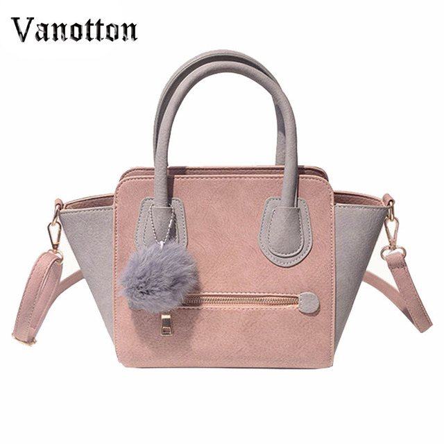 2016 Spring Smiley PU Leather Tote Bag Women Trapeze Fashion Designer  Handbags High Quality Ladies Bags 1f9a95f68677d