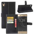 """For Sony Xperia XA1 Ultra Case 6.0"""" Flip Phone Cover Leather Cases Lichee Pattern Skin Bag Wallet Case For Sony XA1 Ultra"""