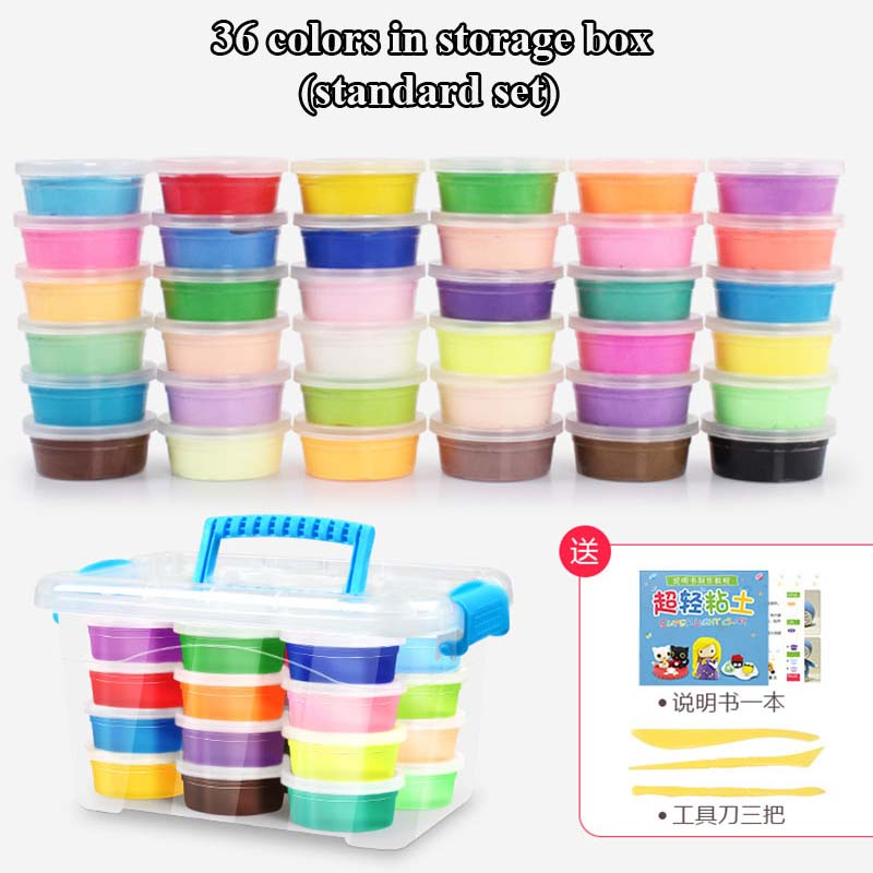 24-Colors-36-Colors-Super-Light-Modeling-Clay-Set-Air-Dry-Soft-Plasticine-Plastilina-Play-Dough-Playdough-Polymer-Clay-DIY-Toy-4
