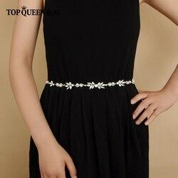 Cinturones de novia TOPQUEEN SH132 con perlas y diamantes de imitación cinturón para La novia accesorios de boda cinturones finos