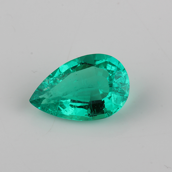 5pcs pack High Quality Pear shape 3 5mm Hydrothermal Emerald stone For Jewelry