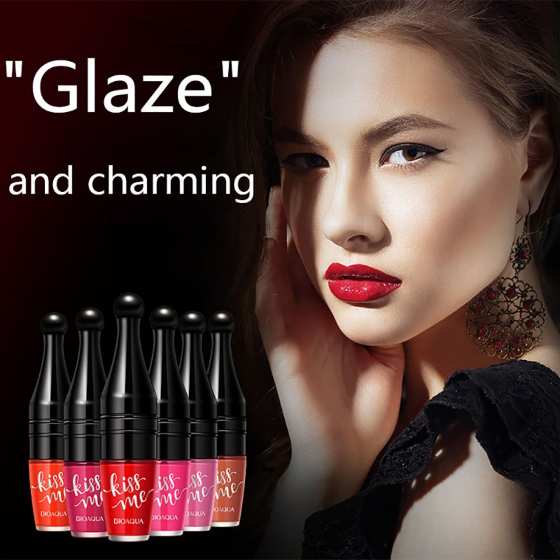 Lip Gloss Beauty Shakes Air Cushion Lip Glaze Natural Long Lasting Moisturizing Unique Shape Cup Lipstick Q1