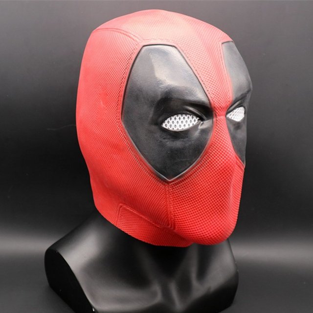 Marvel Superhero Deadpool 2 Full Head Latex Mask Halloween Cosplay Party Red Mask Costume Props Gift 1