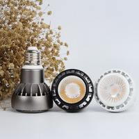 E27 Led par light 12W G12 par20 spotlight white black color E27 par20 lamp AC85-265V