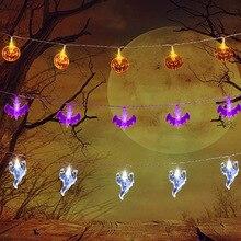 Лучший!  Праздник Хэллоуина Свет Строка 3 Метра 20 Светодиодов С Призраком / Летучая мышь / Тыква Висячие  Лучший!